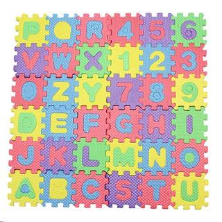 1 Set 36pcs A-Z Letters Alphabet Numeral Foam Mat Educational Toy For Kid Child