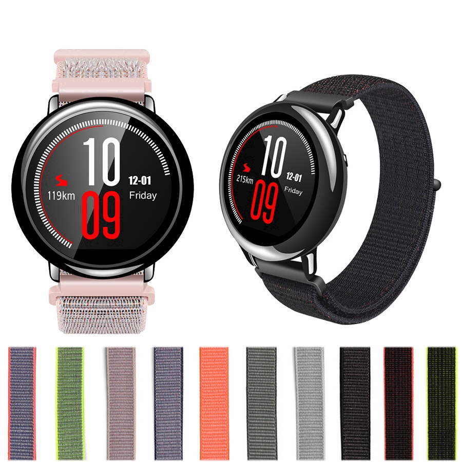 Dây đeo sợi nylon 22mm cho đồng hồ thông minh Xiaomi Huami Amazfit stratos Pace