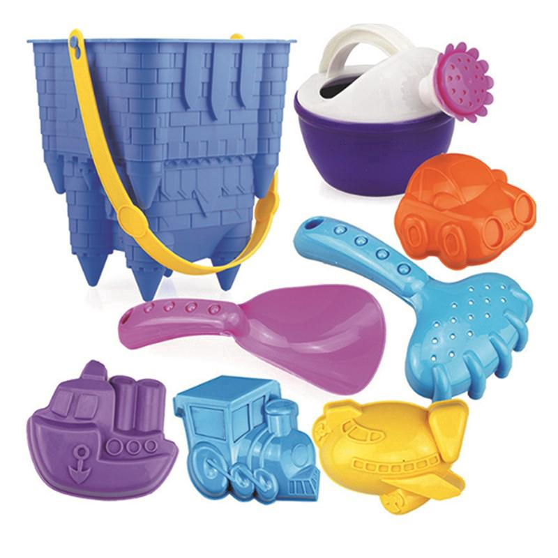 8pcs Tiny Beach Sand Tools Toys Bucket Set For Toddler Kids kids Outdoor Toy JM