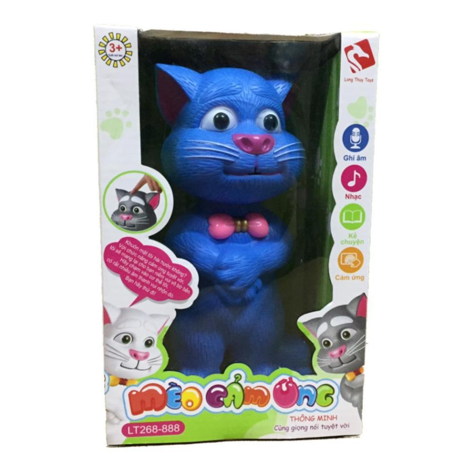 Đồ Chơi Mèo cảm ứng biết nhại giọng long thủy cho bé tập nói