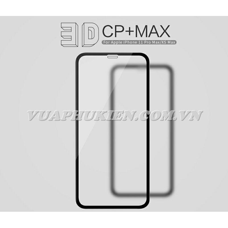 TẤM DÁN KÍNH CƯỜNG LỰC CHO IPHONE 11 / 11 PRO / 11 PRO MAX FULL MÀN HÌNH HÃNG NILLKIN 3D CP+ MAX, CHỐNG XƯỚC, CHỐNG VỠ