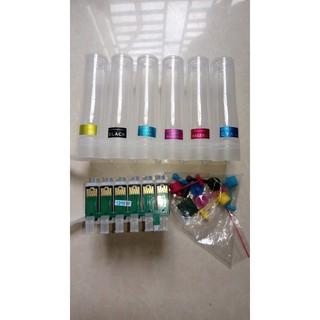 Bộ tiếp mực ngoài 6 màu dành cho máy in Epson T50, T60, 802, 803a và các dòng máy Epson. Nhận thay mực giá ưu đãi