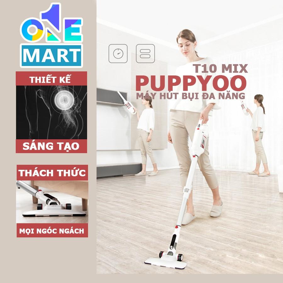 [Đời mới nhất] Máy hút bụi cầm tay không dây Puppyoo T10 mix - Hàng chính hãng - Tặng 1 máy sấy Deliya kèm 5 phụ kiện