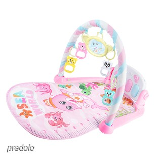 Infant Baby Animal Play Mat Play Gym Mat Soft Activity Playmat with Toys