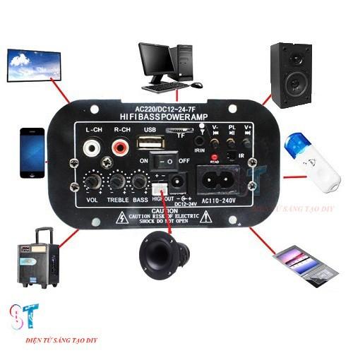 Âm Ly D2A1 HiFi Bass Power, Mạch Loa Crow 80W