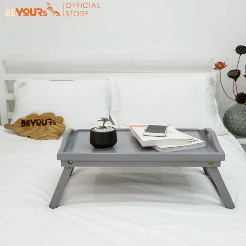 [Mã NOIT10BE9 giảm 10% đơn 200k] Bàn Đa Năng Mini BEYOURs Bed Tray Nội Thất Kiểu Hàn Lắp Ráp - Xám