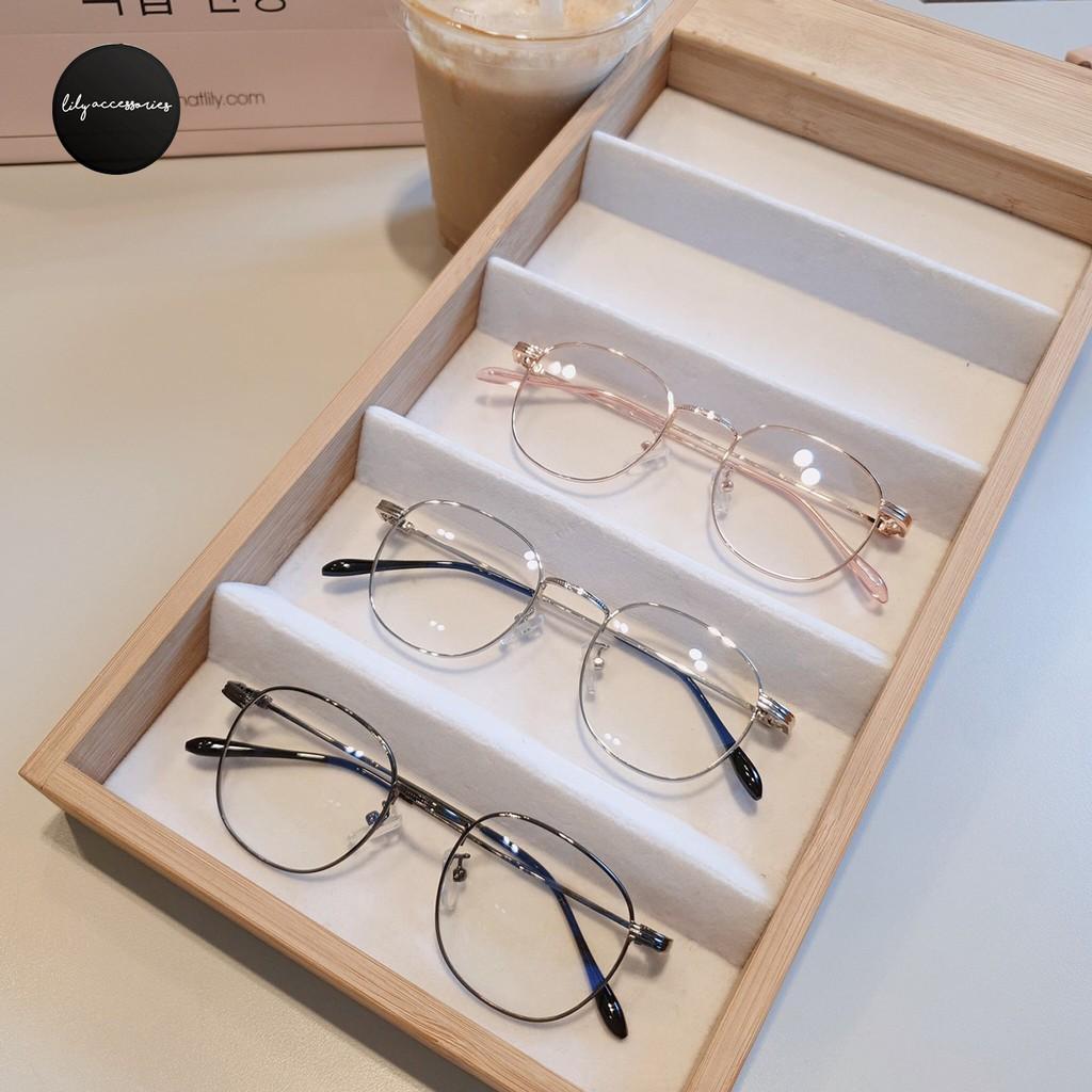 Cắt kính mắt cận-loạn Gọng kính cận tròn kim loại 1910
