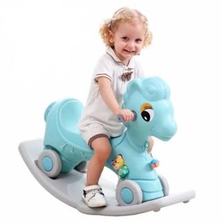 Ngựa bập bênh chòi chân cho bé từ 1-6 tuổi