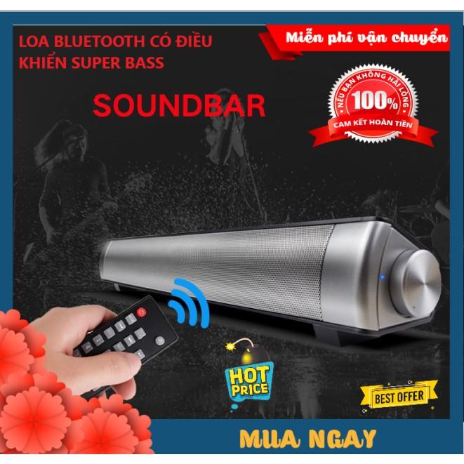 Loa Bluetooth Không Dây Vi Tính, Tivi Soundbar lp-08 Sound Blaster Master Bass Có Điều Khiển Nghe Nhạc, Xem Phim Siêu Đã