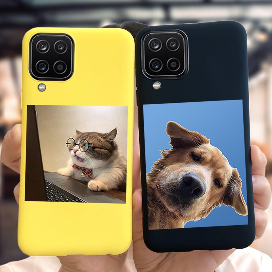 Ốp điện thoại mềm in hoạt hình chữ cái cho Samsung Galaxy A12 5G A12 2020 6.4 inch
