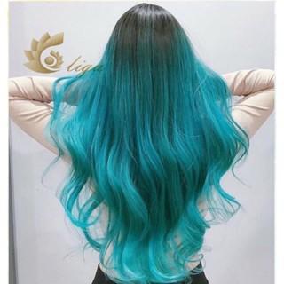 (KÈM TẨY) Thuốc nhuộm tóc màu XANH TIÊN CÁ