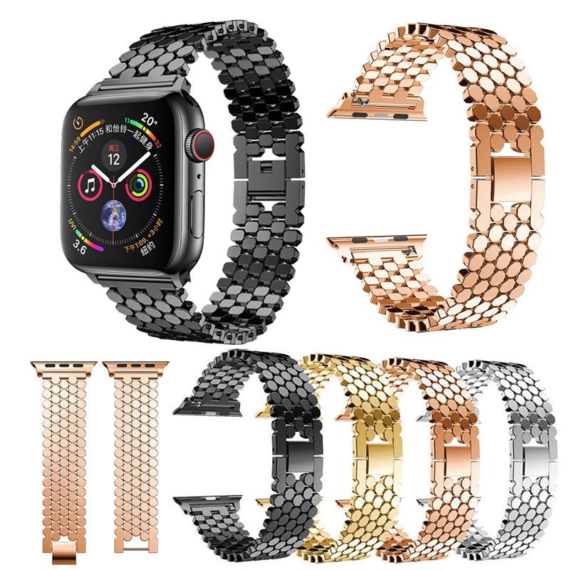 Dây Đeo Tay Bằng Thép Không Gỉ Cho Đồng Hồ Thông Minh Apple Watch 1 2 3 4 5