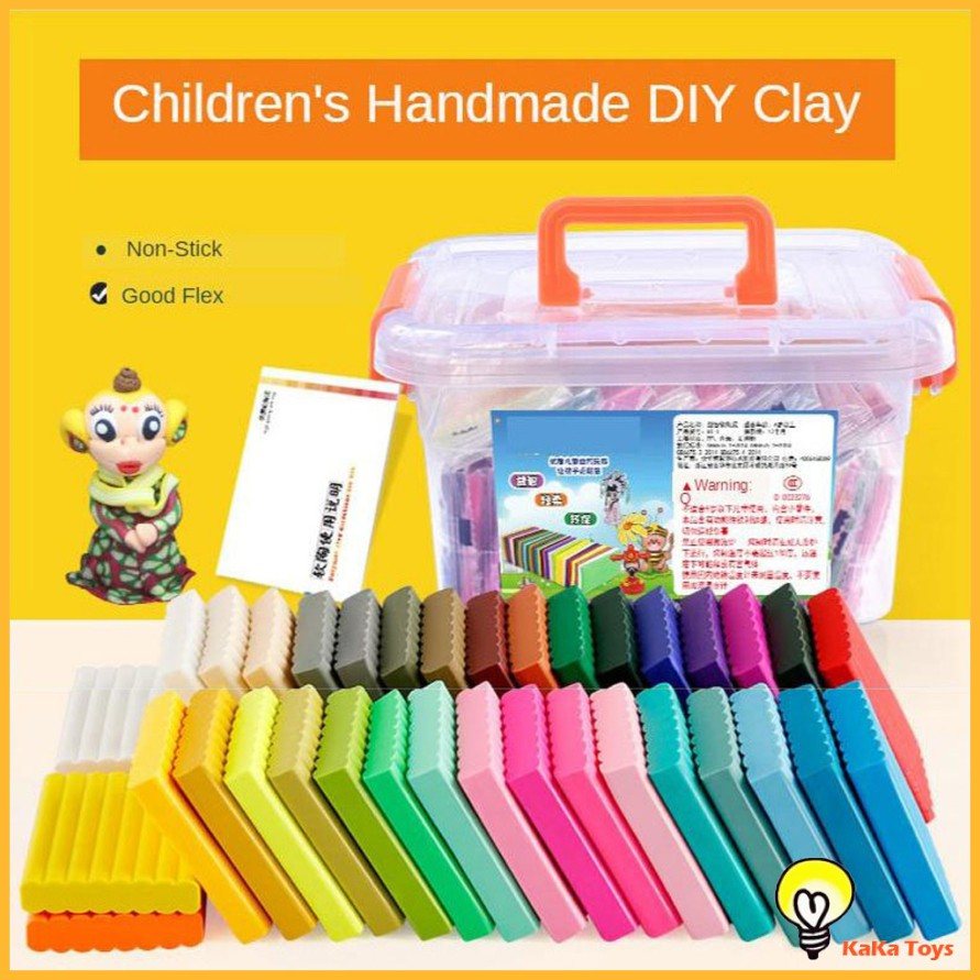 Soft Stretchable Polymer Clay DIY Modeling Clay Starter Kit for Kids Adults,