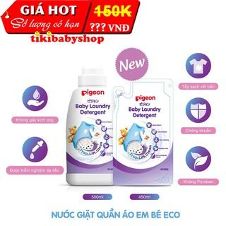Nước giặt quần áo trẻ em Pigeon - Combo Chai 500ml và Túi 450ml thumbnail