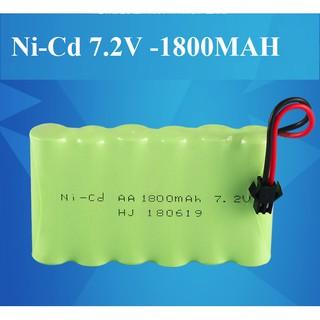 Pin 7.2v Ni-Cd 1800mAh pin sạc dùng cho xe điều khiển cổng nối SM tặng kèm cáp sạC thumbnail