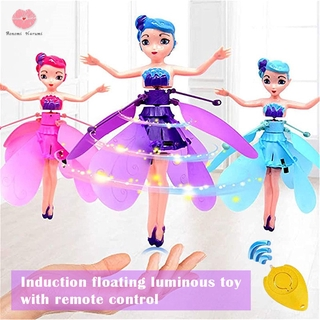 Flying Fairy Girls Toy Magical Wing Infrared Induction Control Child Toy Flying Princess Doll with Remote Control