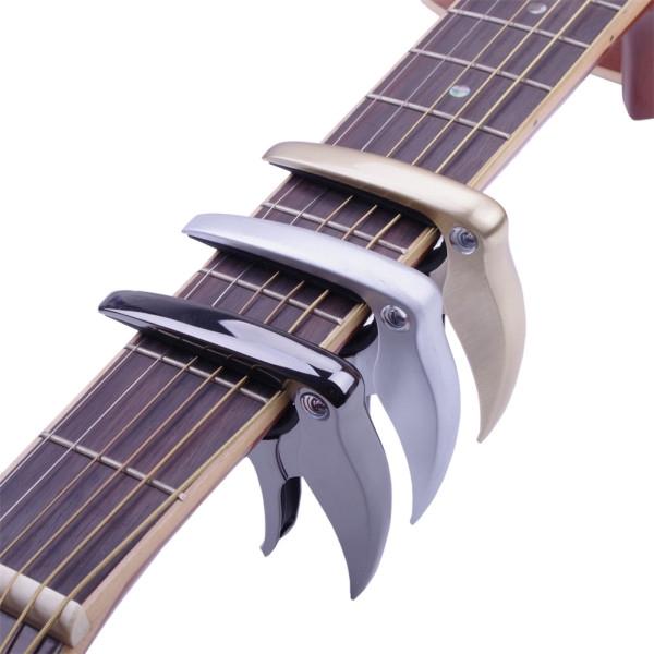 Bird Shaped Universal Metal Capo Tune Clamp Trigger