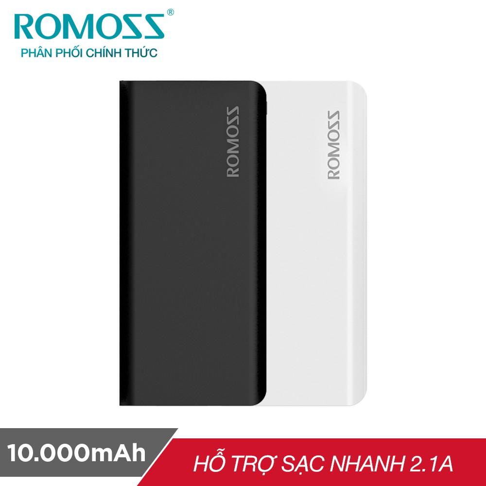 Pin sạc dự phòng Romoss Solit 5 10.000mAh hỗ trợ sạc nhanh 2.1A - Hãng phân phối chính thức