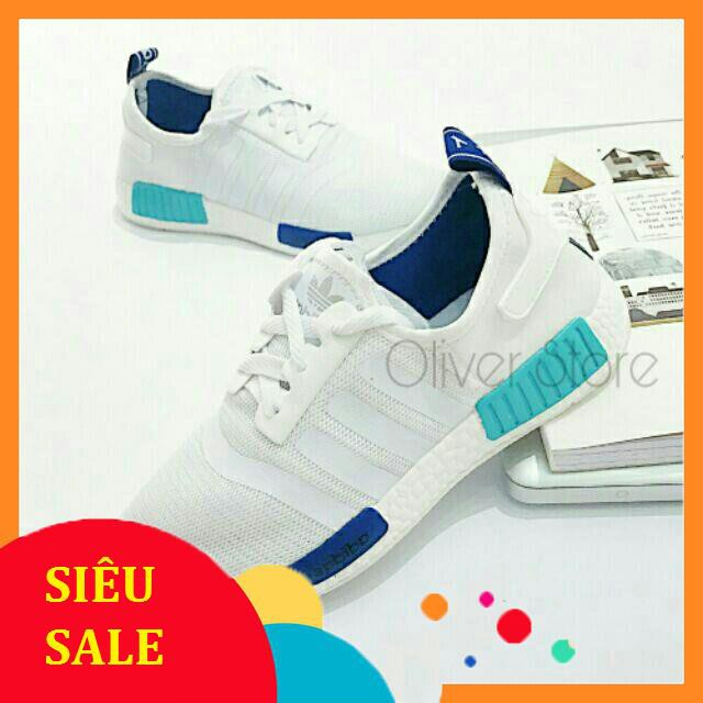 💥 GIÀY THỂ THAO NMD R1 WHITE BLUE