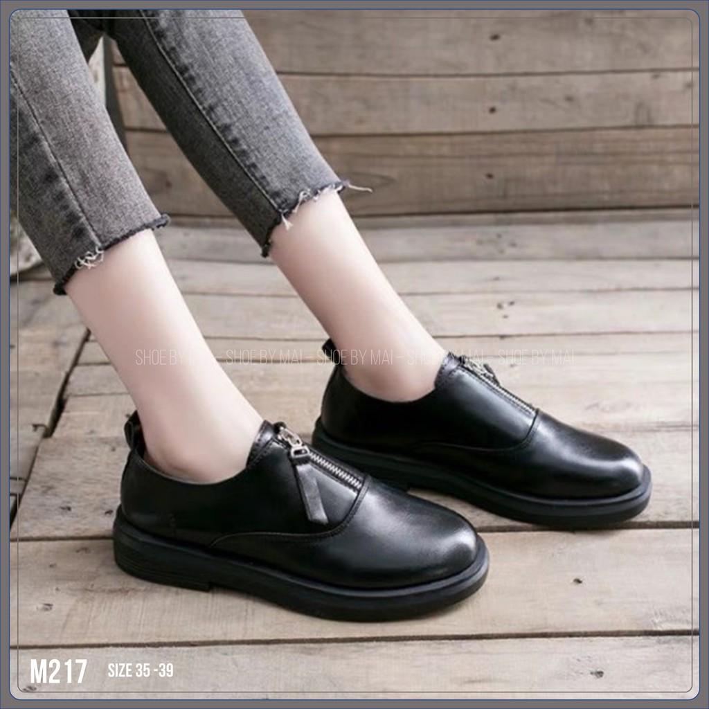 Giày ulzzang nữ có khóa kéo M217 SHOEBYMAI