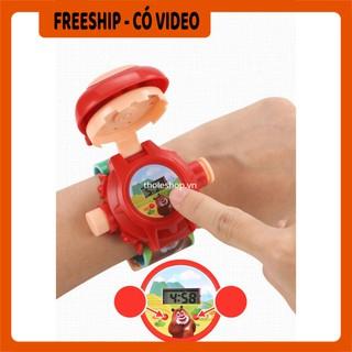 Đồng hồ điện tử  BH 1 THÁNG   Đồng Hồ Hoạt Hình Chiếu Hình, Dành Cho Trẻ Em Xinh Xắn Dễ Thương 5606