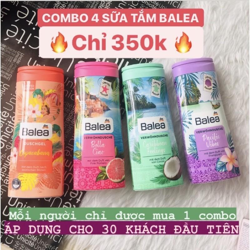 DEAL HOT 11.11 Combo 4 sữa tắm Balea (limited 2020)