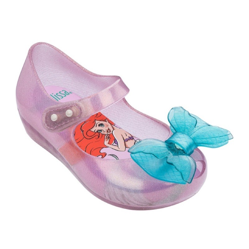 Giày nơ búp bê nhựa dẻo thơm Melissa cho bé gái hình nàng tiên cá