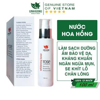 Nước Hoa Hồng Kiềm Dầu Se Khít Lỗ Chân Lông Whitening Toner Rose Linh Hương 100ml thumbnail