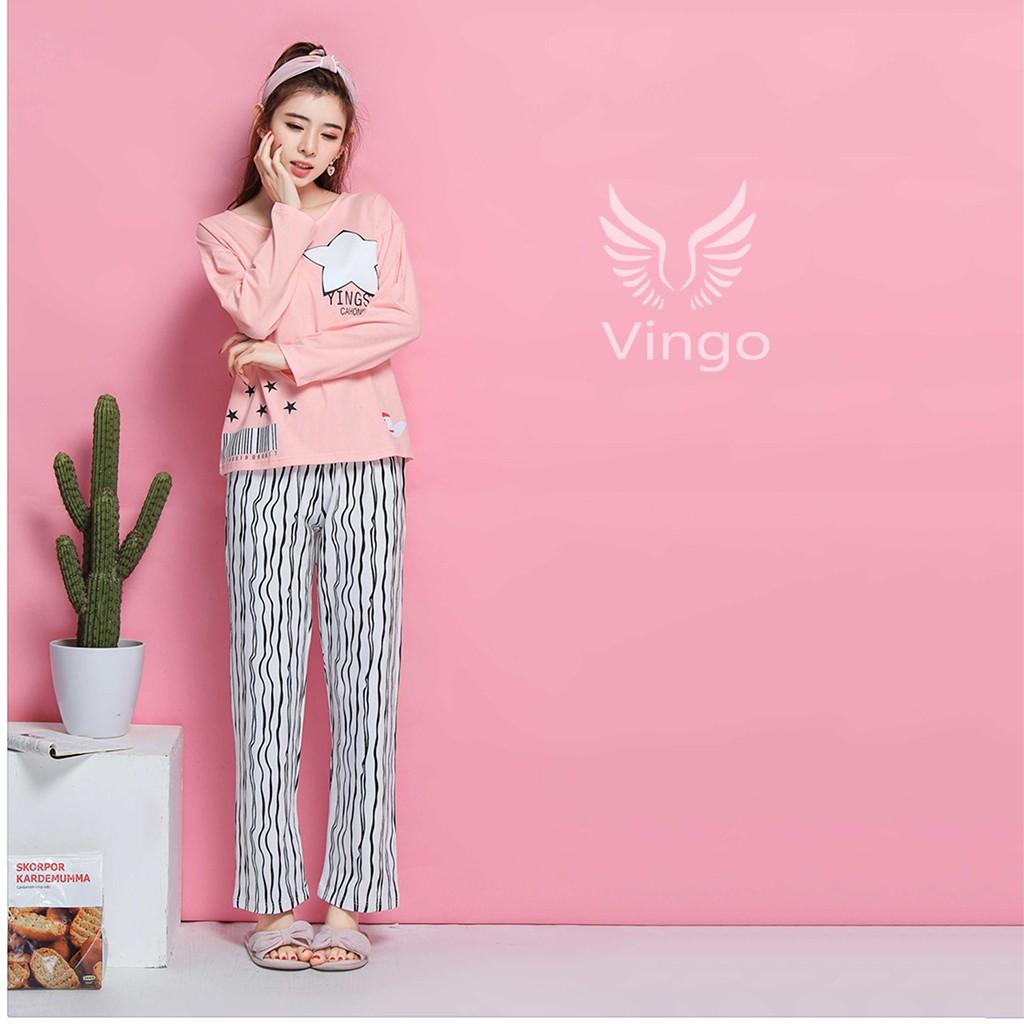 Bộ đồ ngủ cotton cao cấp họa tiết ngôi sao thương hiệu Vingo - 3320657 , 761508560 , 322_761508560 , 349000 , Bo-do-ngu-cotton-cao-cap-hoa-tiet-ngoi-sao-thuong-hieu-Vingo-322_761508560 , shopee.vn , Bộ đồ ngủ cotton cao cấp họa tiết ngôi sao thương hiệu Vingo