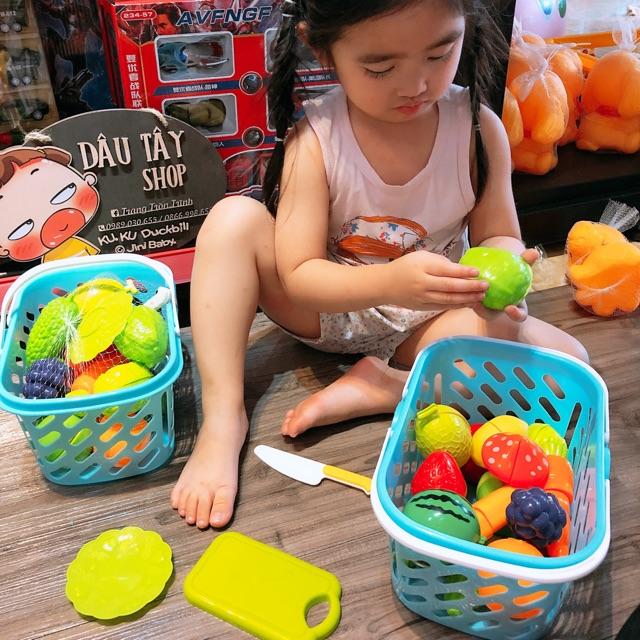 [Mã TOYNOV giảm 10% tối đa 15K đơn từ 50K] Bộ đồ chơi giỏ cắt hoa quả 20 chi tiết