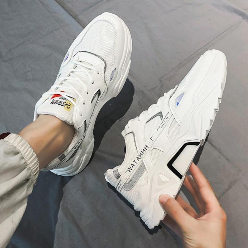 Giày Sneaker Nam [ FREESHIP ] Giày Thể Thao Nam phản quang tăng chiều cao - G39