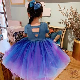 Đầm công chúa phối lưới thời trang cho bé dễ thương