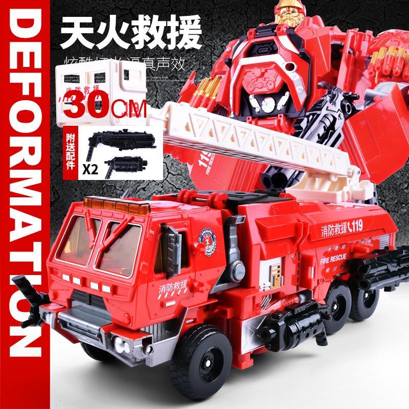 ☢✥Large deformation robot King Kong 5 Bumblebee toy police car Detective genuine change model send gift Boy