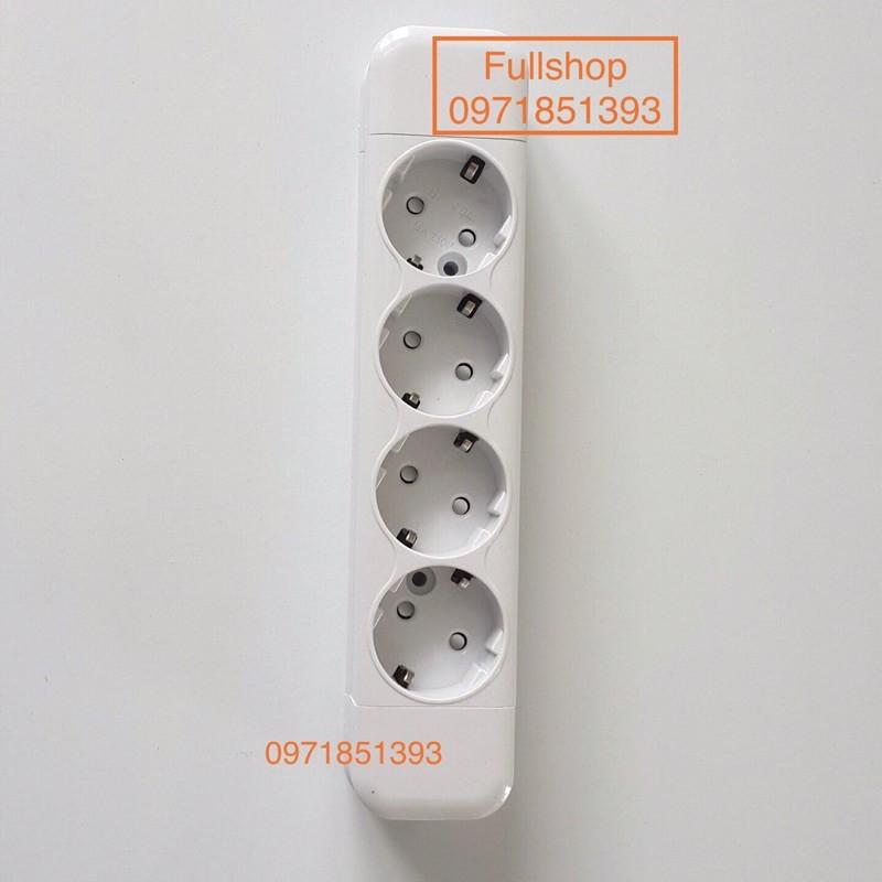 Ổ cắm nổi 4 kiểu ổ cắm schuko 16A có chân tiếp địa FS-SKN4