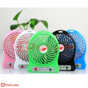 Quạt sạc mini 3 số kiêm đèn LED Vega Fan