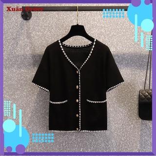 (Order 7-12 Ngày, Bigsize XL-3XL) Áo Len Đan Hàng Đầu Che Bụng Thời Trang Nước Ngoài Phong Cách Áo Sơ Mi Nhỏ Phong Cách
