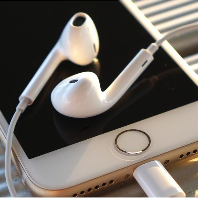 Tai nghe IP 6  Tặng bao đựng + dây cuốn  Bảo hành 12 tháng sử dụng cho IP 5 6 6s Plus