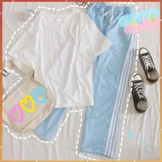 1hitshop Quần Dài Phối Sọc 3 Màu Line Color – Rainbow Pants Unisex (3 Màu)