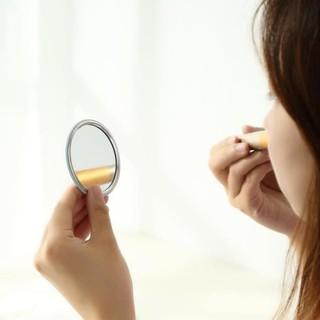 Gương trang điểm mini cầm tay Hàn Quốc – Gương tròn mini cầm tay bỏ túi tiện dụng (1 chiếc)