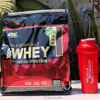 Whey Protein Isolate Bột Tăng Cơ Whey Protein Whey On Optimum Nutrition Gold Standard 100% 80 Vị Chocolate kèm Bình Lắc thumbnail