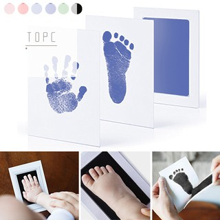 Newborn Baby Handprint Footprint Inkless Non-toxic Ink Pad Infant Baby Souvenirs