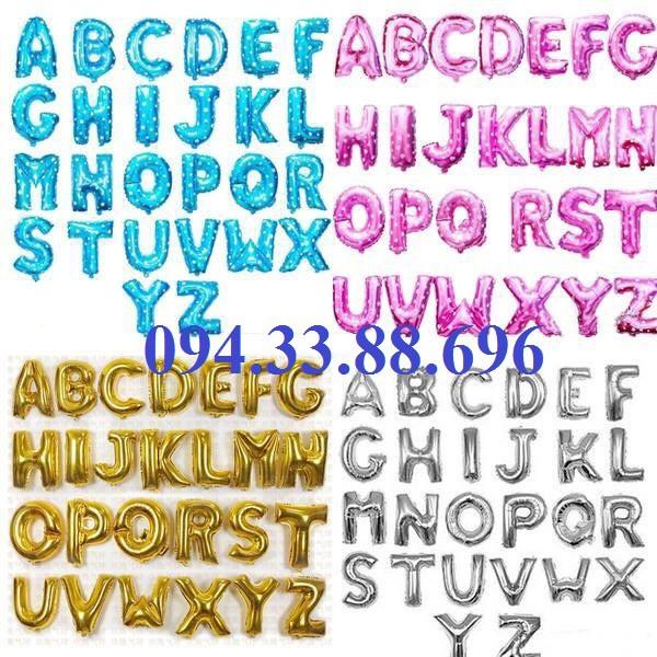 Bóng chữ cái ghép tên đủ 4 mầu - Bóng sinh nhật chữ cái - bóng ghép tên - bóng chữ ghép tên