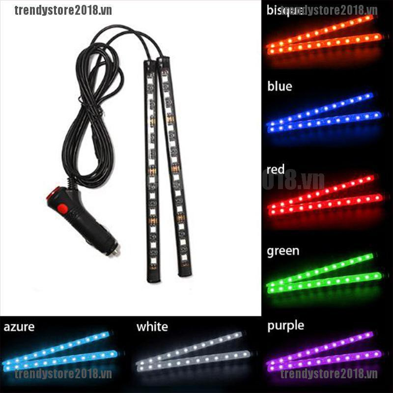 TRENDY 24 LED Car Charge Interior Accessories Floor Decorative Atmosphere Lamp Light VN