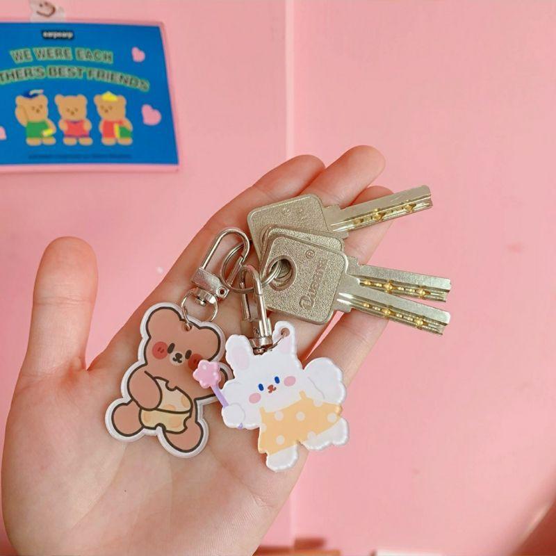 Móc Khóa Acrylic, Keychain Cài Airpod Hình Hoạt Hình Ngộ Nghĩnh BiTi Mk493