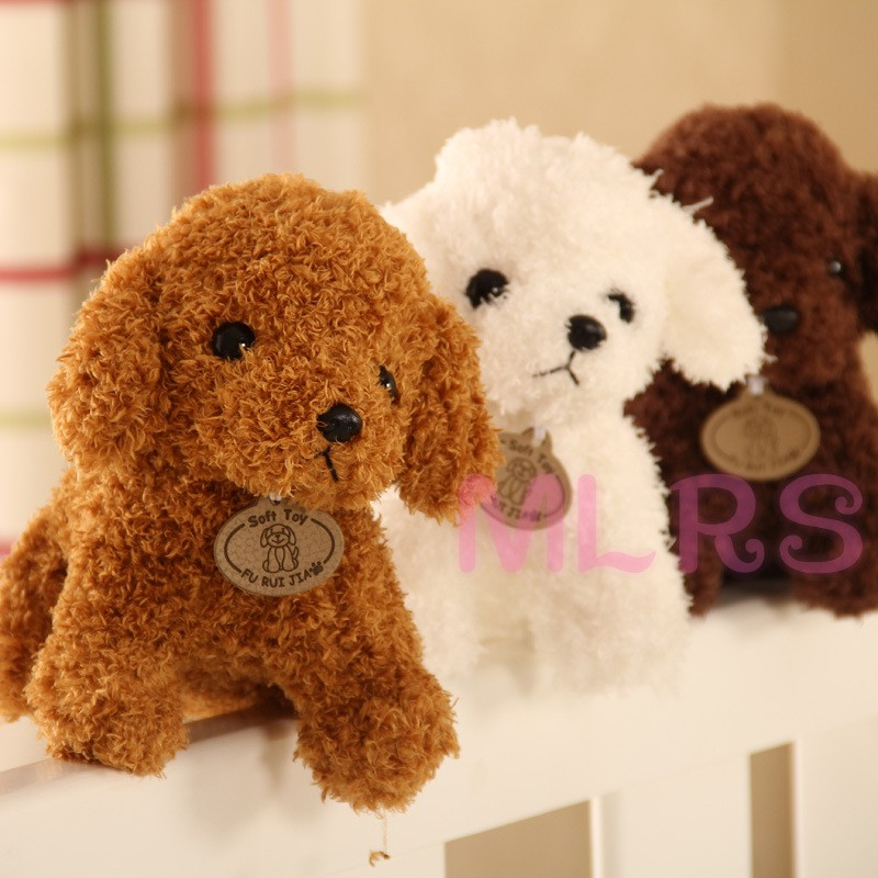 MS Cute Simulation Dog Plush Toy Stuffed Animal Puppy Doll Teddy Dog Doll for Kids and Annual Party Gift &VN