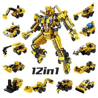 Bộ lắp ghép kiểu LEGO 12 in 1 mô hình CITY Project Mecha, bộ ghép hình cho trẻ phát triển tính sáng tạo