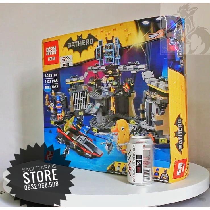 Lego Lepin 07052 Lắp Ráp Căn Cứ Batman - Đột Nhập Hang Dơi ( 1121 Mảnh )