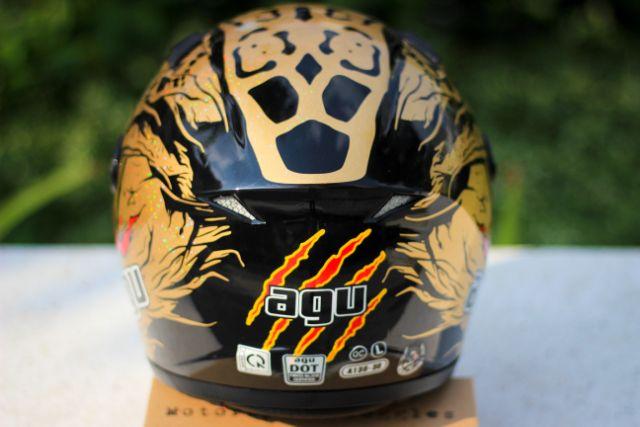 [CHÍNH HÃNG] Mũ Bảo Hiểm Fullface AGU Tem Rồng Vàng Đồng - AGU đen Trơn
