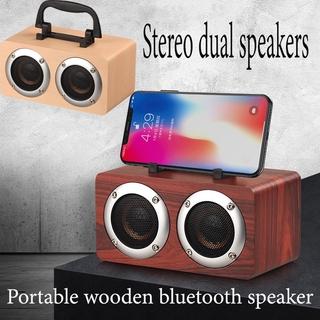 Loa Bluetooth W5B Vỏ Gỗ Cao Cấp Và Phụ Kiện