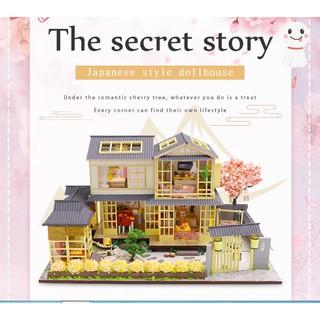 Mô hình nhà gỗ búp bê The secret Story (mica+keo)